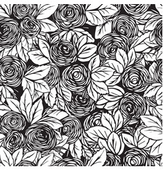 Seamless pattern in roses vector