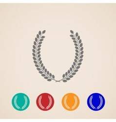set of icons with laurel wreaths vector image vector image
