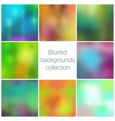 Square colorful blurred backgrounds set vector image