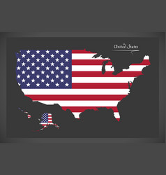 united states map with american national flag illu vector image