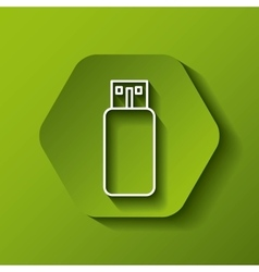 Usb icon Gadget design over hexagon vector image