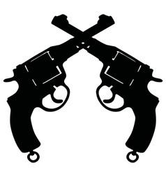 Vintage military revolvers vector