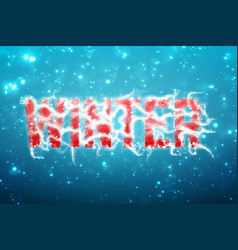 winter blue background with snow in soft focus and vector image vector image