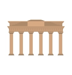 Brandenburg gate germany europe icon vector