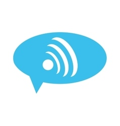 Wifi signal within conversation bubble icon vector