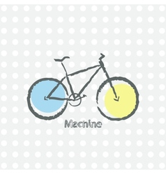 old bicycle retro background vector image