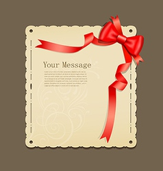 Red ribbons and paper vector