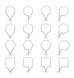 Gray map pin sign flat location icon web button vector