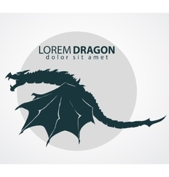 dragon silhouette vector image