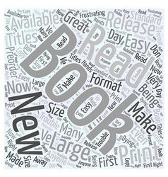 large print books Word Cloud Concept vector image