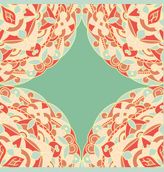 seamless patternvintage card with mandala pattern vector image