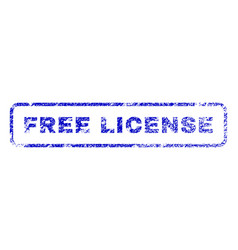 Free license rubber stamp vector