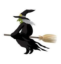 Witch halloween cartoon character vector