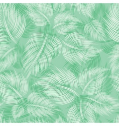Seamless pattern with green leaf vector