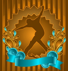 Skateboarder vintage design vector