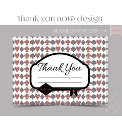 Thank you note - key from wonderland vector