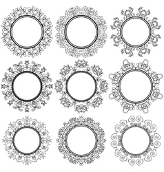 Circle geometric ornaments emblems and badges vector
