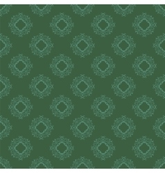 Seamless texture on green ornamental backdrop vector