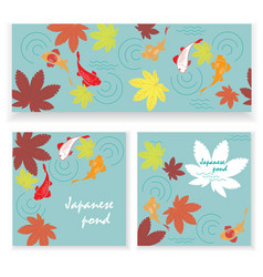 autumn japanese pond vector image vector image