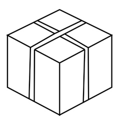 Big box icon outline style vector