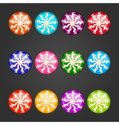 Big set with striped candy vector image