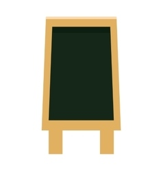black board icon vector image