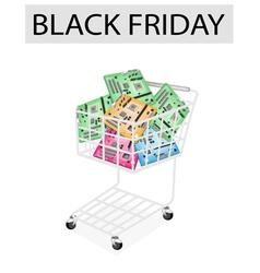 Computer motherboard in black friday shopping cart vector