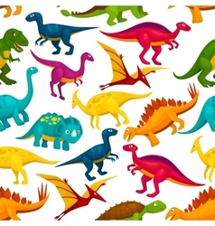 Dinosaur jurassic animal monster seamless pattern vector