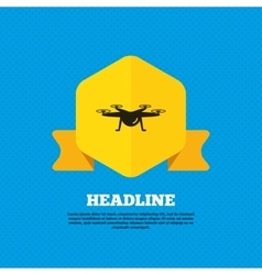Drone icon Quadrocopter symbol vector image vector image