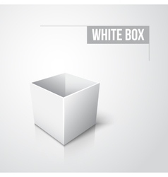 Empty white box with shadow and reflection vector