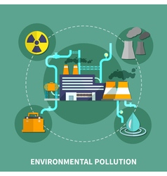 Environmental pollution object vector