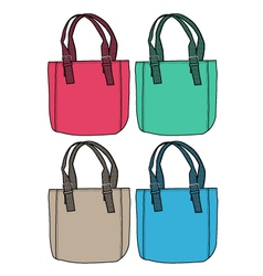 fashion bag design vector image vector image