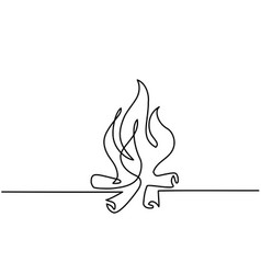 Fire outline icons on white background vector