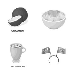Food cooking and other monochrome icon in cartoon vector