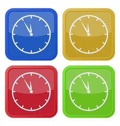 four square color icons last minute clock vector image vector image