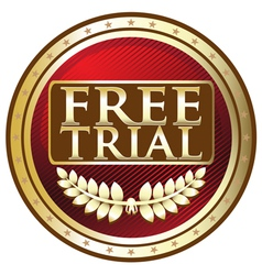 Free Trial Red Emblem vector image