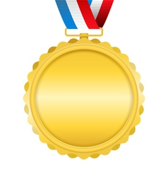 Golden Medal with Ribbon vector image vector image