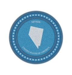 Label with map of nevada Denim style vector image vector image