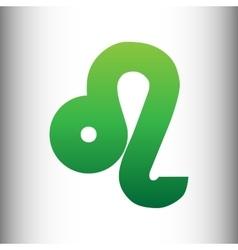 Leo sign green gradient icon vector
