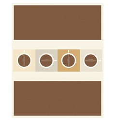 paper coffee vector image vector image
