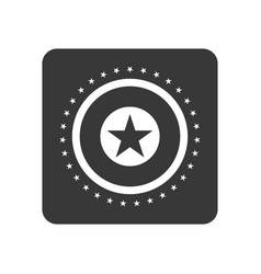 Quality control icon with star sign vector
