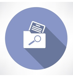 search for a document in the folder icon vector image vector image