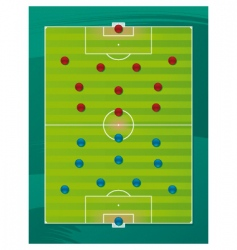 soccer team tactics field vector image