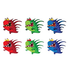 spiny monster vector image vector image