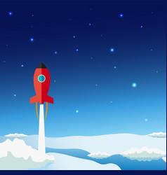 stratosphere flat modern design rocket space vector image