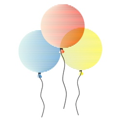 Striped air balloons vector image vector image