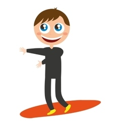 Surfer character funny isolated vector