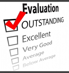 outstanding job evalution check boxes vector image