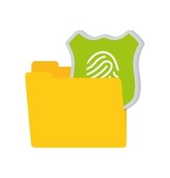 Folder data shiled protection system technology vector