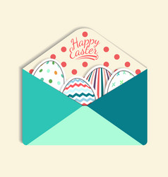 colorful paper mail envelope with a easter egg vector image